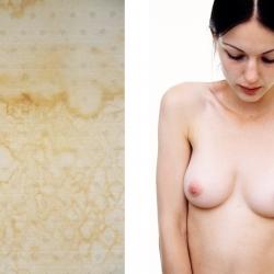 Portrett av ung kvinne, rett forfra