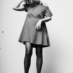 Dame i kjole